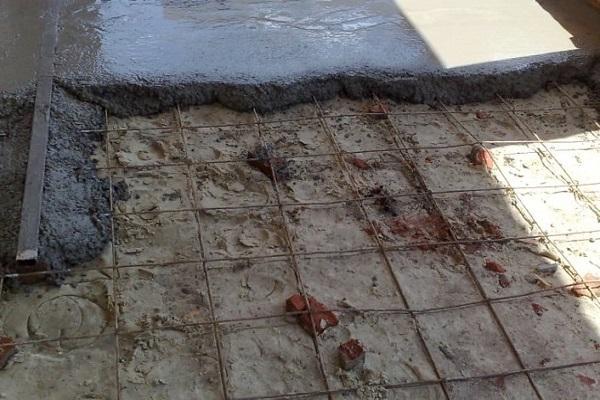 залитие бетона