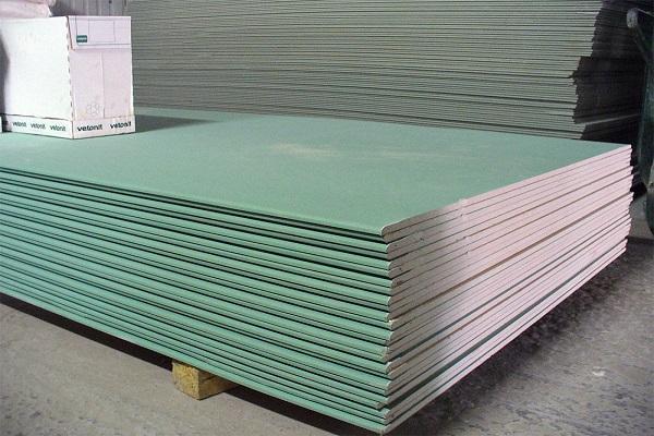 зеленый гипсокартон