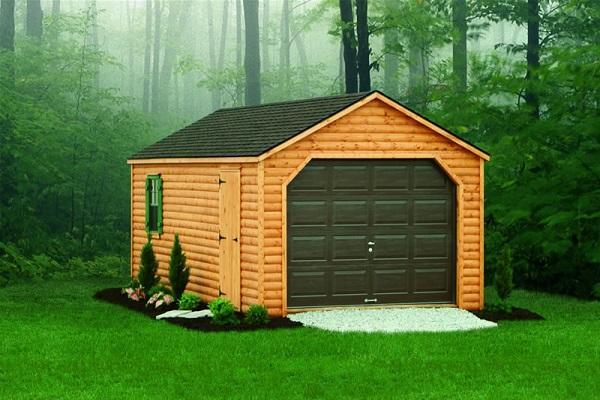 деревянное помещение