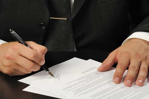 подписи на документе