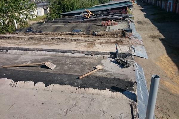 убрана крыша
