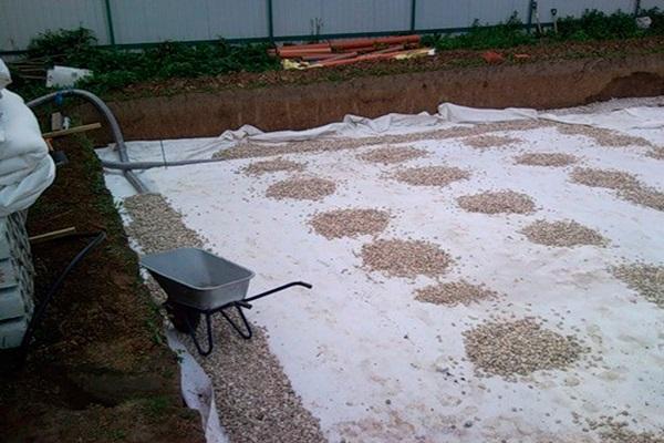 щебенка на бетон