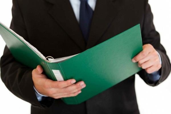 зеленая папка