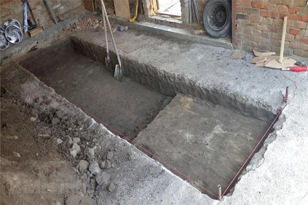 постройка ямы