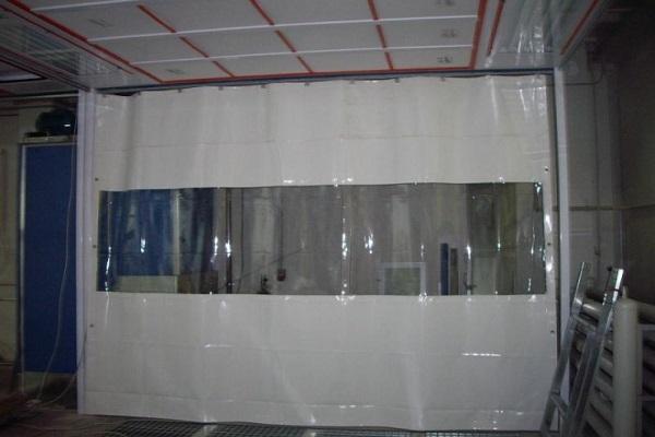 штора из полиэтилена