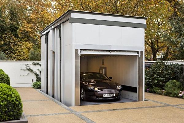 открытый гараж